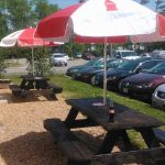 Picnic tables for Zero's Subs customers